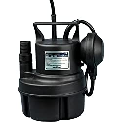 Fpower 1/3 HP Submersible Sump Pump Clean Water Pump With Automatic ON/OFF Float Switch for Fountain, Pond, Pool, Aquarium, Cisterns, Well