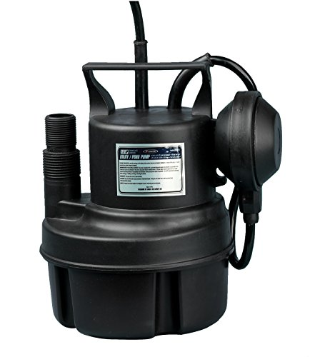 FPOWER 1/3HP Clean/Dirty Water Submersible Pump with 10-Foot Cord Utility Pump with Automatic ON/Off Float Switch for Fountain, Pond, Pool, Aquarium, Cisterns
