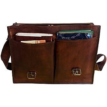 VINTAGE COUTURE 18 Inch leather messenger bags for men women mens briefcase  laptop bag best computer 49ec68067550a