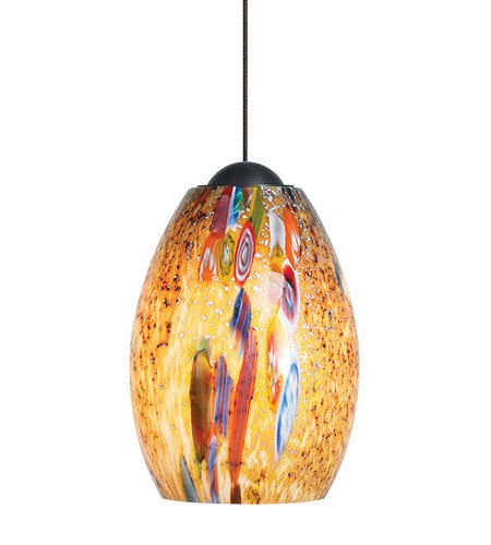 LBL HS338MOSC1B50FSJ, Mini-Monty Mini Low Volt Murano Glass Pendant, 1 Light Halogen, - Mini Monty Light 1