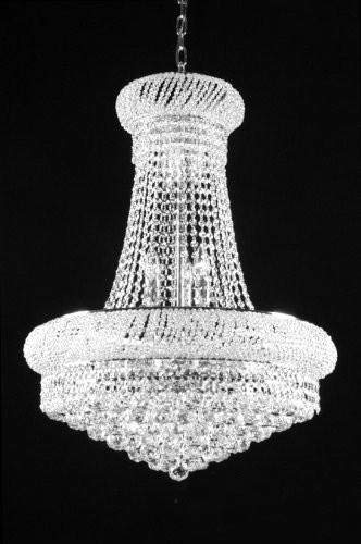 """French Empire Crystal Chandelier Chandeliers H32"""" X W24″ – Good for Dining Room, Foyer, Entryway, Family Room and More! For Sale"""