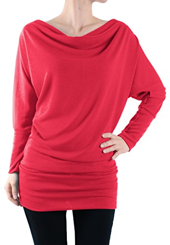 LeggingsQueen Womens Dolman Sleeve Basic