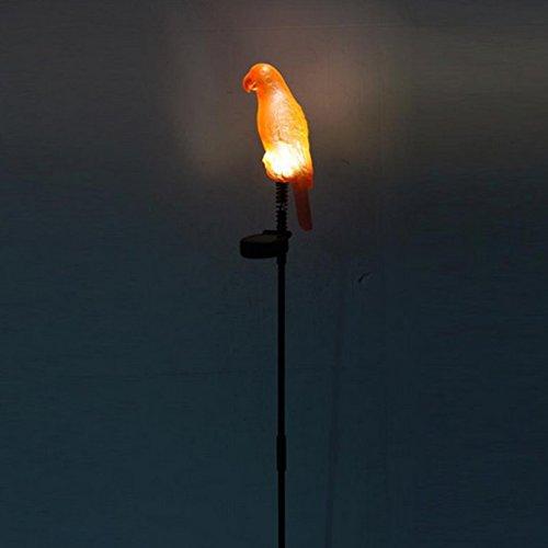 Baoblaze Perroquet Lumière LED Lampe Jardin Énergie Solaire ...