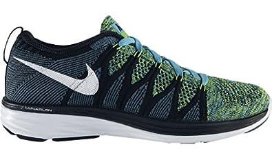 mujer Nike WMNS Flyknit lunar2-620658 401 - Azul Blanco Zapatillas Negras GB 3.5 EUR 36.5 US 6: Amazon.es: Zapatos y complementos