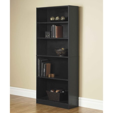 Orion Wide 5-Shelf Bookcase (Black)