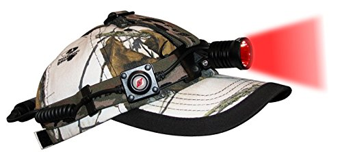 Night Eyes Red LED Single Beam Headlamp Kit (HL08-R), fully adjustable brightness with memory, eye reflection beyond 500 yards, 6.8 ounces with battery, coyote, fox, hog, varmint, red scan light by Night Eyes (Image #1)
