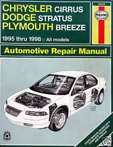 Haynes Automotive Repair Manual Mid-Size: Chrysler Cirrus, Dodge Stratus, Plymouth Breeze (All Models 1995, 1996, 1997, 1998)
