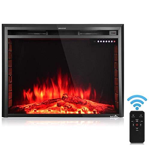 36' Modern Tv Stand - Tangkula Electric Fireplace Insert 36