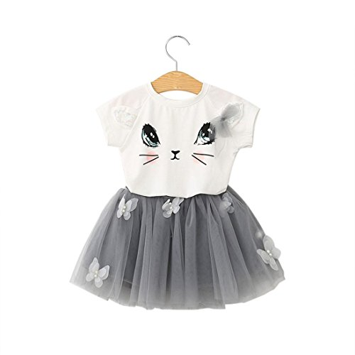 FAPIZI ❁ Kids Dresses ❁ Kids Girls Cat Pattern Shirt