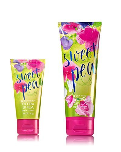 Bath & Body Works One for home & One for Travel – ULTRA SHEA Body Cream Set – Sweet Pea by Bath & Body Works