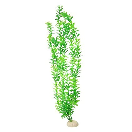 eDealMax Planta de hierba de agua plástico del tanque de pescados, 19.3 pulgadas de altura