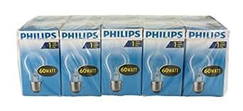Philips AGL Standard Glühlampe 60W E27 230V - Bombilla incandescente, pack de 10 unidades