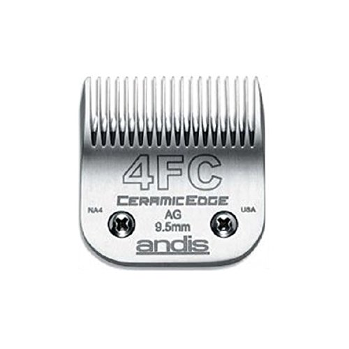 Andis Stainless Steel Pro Quality Grooming Ceramic Edge Clipper Blades Choose Size !(# 4FC Finish Blade = 9.5mm) by Andis