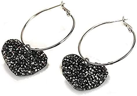 Earrings, full of hearts, fashion, big circle, Japanese and Korean earrings Pendientes, Llenos De Corazones, Moda, Círculo Grande, Pendientes Japoneses Y Coreanos.