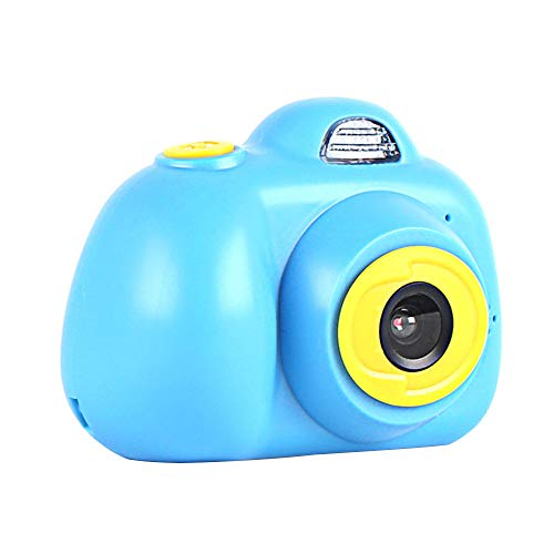 - 2 inch screen mini children's digital camera small SLR sports double lens smart camera video recorder toy boy girl creative cartoon digital camera three colors interesting game 5-9 years old boy birth