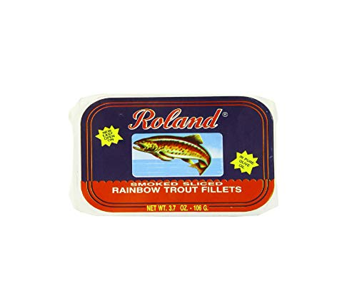 Roland Rainbow Trout Fillets, Smoked Sliced, 3.7 Ounce