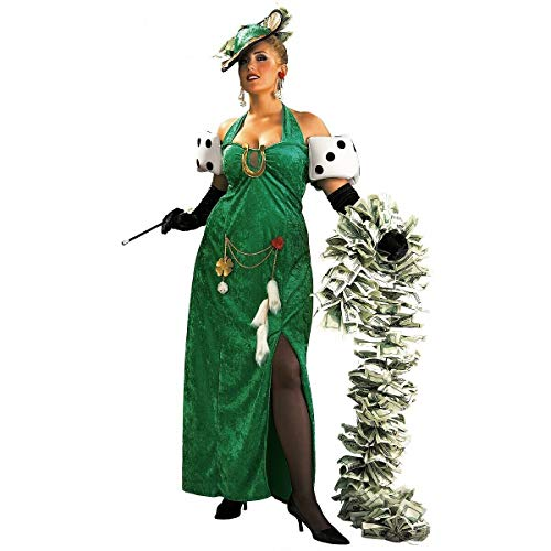 (Tftw Lady Luck Costume Adult Casino Halloween Fancy)