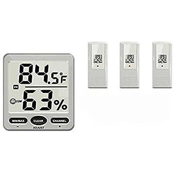 Digitale 8-Kanal Wireless Thermo-Hygrometer-Konsole mit 2