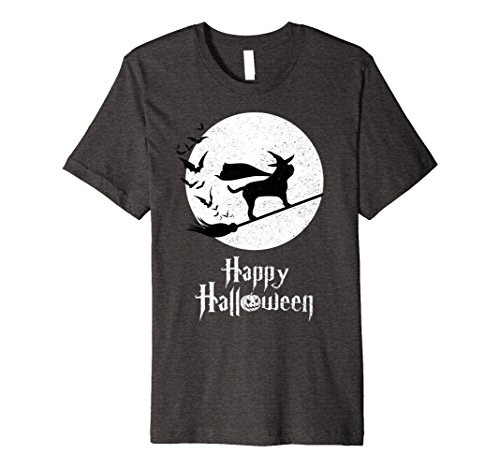 Mens Witch Funny Halloween Costume T-Shirt ENGLISH MASTIFF Lovers Medium Dark Heather