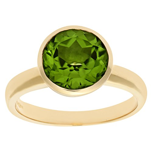 Bague Femme - Or jaune (9 cts) 3.5 Gr - Peridot