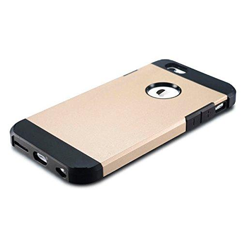 Phone Taschen & Schalen Für iPhone 6 / 6s, Hybrid PC + TPU Tough Armor Farbe Hard Case Cover ( Color : Gold )