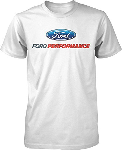 Ford Performance T-Shirt Mustang GT ST Racing (Front Print), White, 2XL