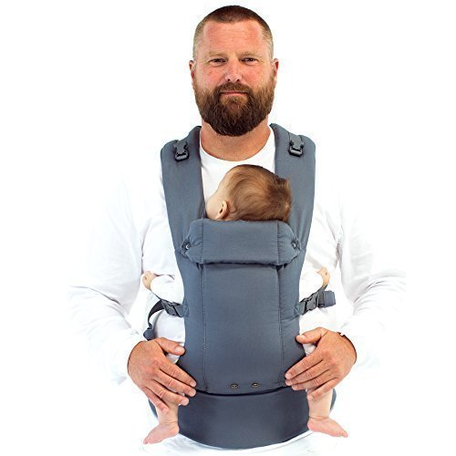 Beco Gemini Baby Carrier - Grey All Positions Performance (Best Baby Carrier For 20 Lbs)