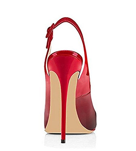 SZXC Mujer Zapatos De TacóN De Aguja Con Hebilla De La Correa Del Tobillo Del Dedo Del Pie Del PíO Sandalias Slingback , pink , 41