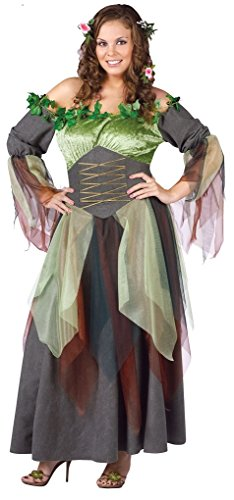 Faerynicethings Mother Nature Adult Costume (Plus (Mother Nature Adult Costumes)