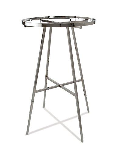 (Econoco Round Folding Rack with Rectangular Tubing Hangrail, 36