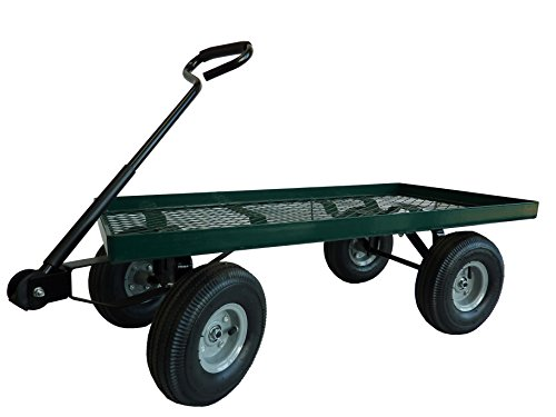 Marathon Green Garden Cart with Pneumatic