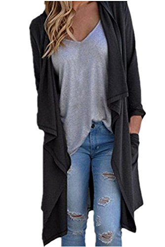 Sunward女性レディースファッションセクシーな不規則な長袖カーディガンゆったりアウタージャケットコート
