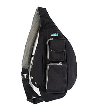Meru – Small Backpack, Cross Body Bag, Sling Backpack Shoulder Bag for Women and Men Sling Backpack Shoulder Bag for Women and Men (Blue Geo) Gecko Active