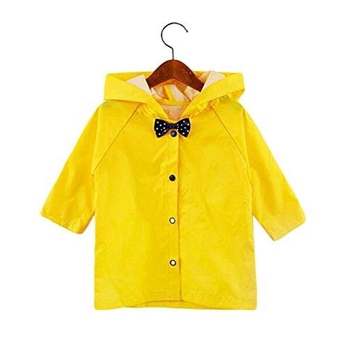 Meijunter Child Cute Bow Raincoat Kids Rainsuit Baby Boys Girl Rainwear Poncho Hooded