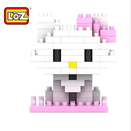 LOZ Diamond Mini Blocks Nanoblock Cute Pink Hello Kitty Mimmy Edu Puzzle Baby Kids Toy 70pcs