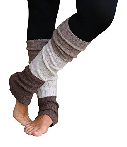 Warmers Leg Acrylic (Lucky Love Striped Reversible Knit Stretchy Winter Leg Warmers for Women)