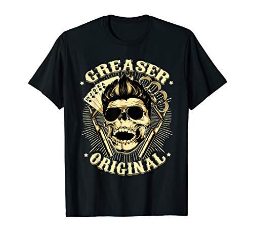 Rock Rockabilly Skull Clothing For Men Women Greaser TShirt
