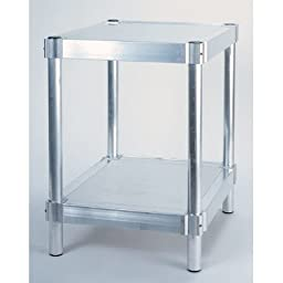 PVIFS N202436-2 Equipment Stand with 2 Adjustable Solid Shelves, 400 lbs Shelf Capacity, 36\