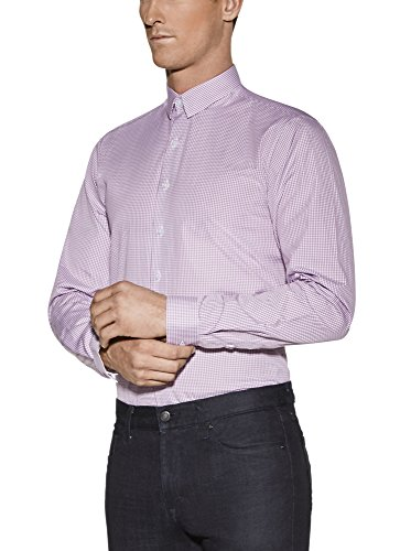 Vardama Men's Gingham Checks Performance Dress Shirt Bethesda With Sweat Resistant Technology (Large) by Vardama