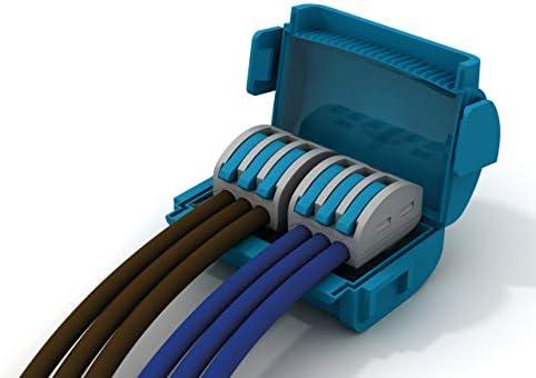 Etelec Shell Box dispositivo conexi/ón aislamiento gel protecci/ón agua IPX8 cables peque/ña secci/ón 0,2-4 mm2 2 polos conector incluido 2 v/ías para Polo MJB222