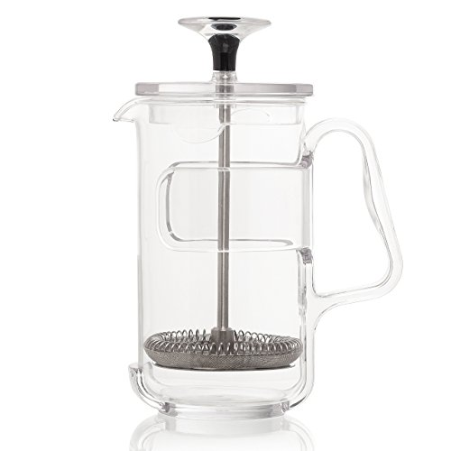 Guzzini My Kitchen Coffee/Tea Press, 3 Cup, 7-Inches, Clear Plastic Glass