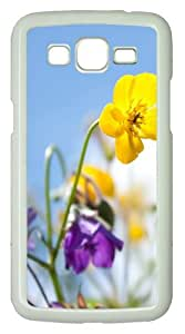 Samsung Galaxy Grand 2 Case - Flowers In The Sunlight PC Hard Case Cover For Samsung Galaxy Grand 2 / Samsung Galaxy 7106 - White