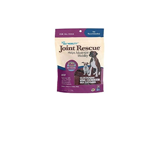 Ark Naturals Joint Rescue for Dog 9oz Flexibility Mobility glucosamine (beef) (Jerky Squares Sea)