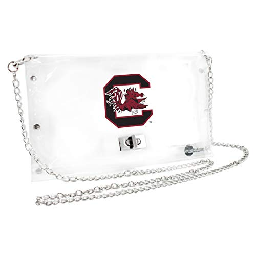 (Littlearth South Carolina Fighting Gamecocks  NCAA Envelope Purse, Clear  - 10 x 0.5 x 6.5 - Inch)