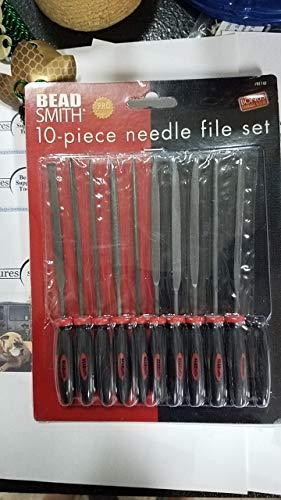 Ergo File - BeadSmith Ergo Needle File 10mm 2 Cut - 10 Piece Set