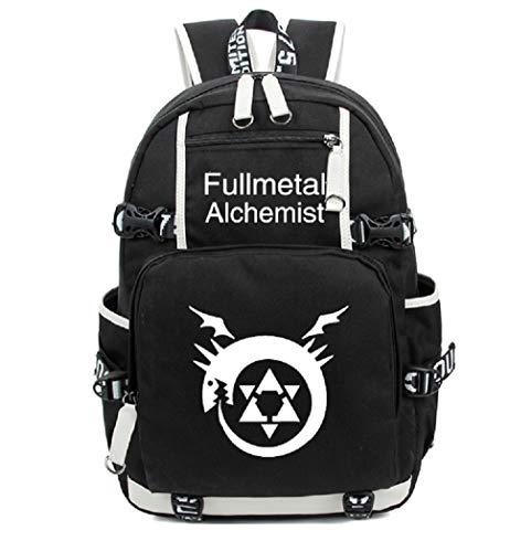 YOYOSHome Fullmetal Alchemist Anime Cosplay Noctilucence Messenger Bag Backpack School Bag - Alchemist Full Metal Bag Messenger