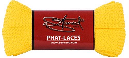 Original 2stoned Phat Laces Schnürsenkel 120cm lang und 3cm breit in 14 Farben Gelb