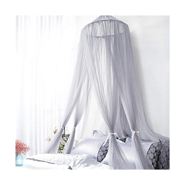ZXYSR Princess Letto A Baldacchino Zanzariera per Bambini Culla, Round Dome Kids Indoor Castle Play Tent Tela di Appeso… 5 spesavip