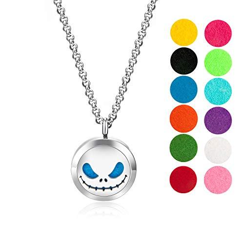 Jack Skellington Essential Oil Diffuser Necklace Gift Set
