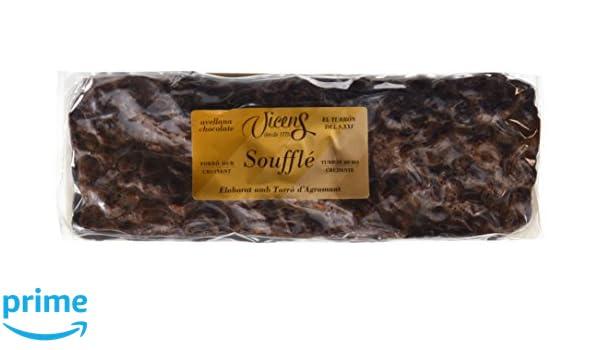 Vicens Turrón Soufflé Duro con Avellana Chocolate - 300 g: Amazon.es: Amazon Pantry